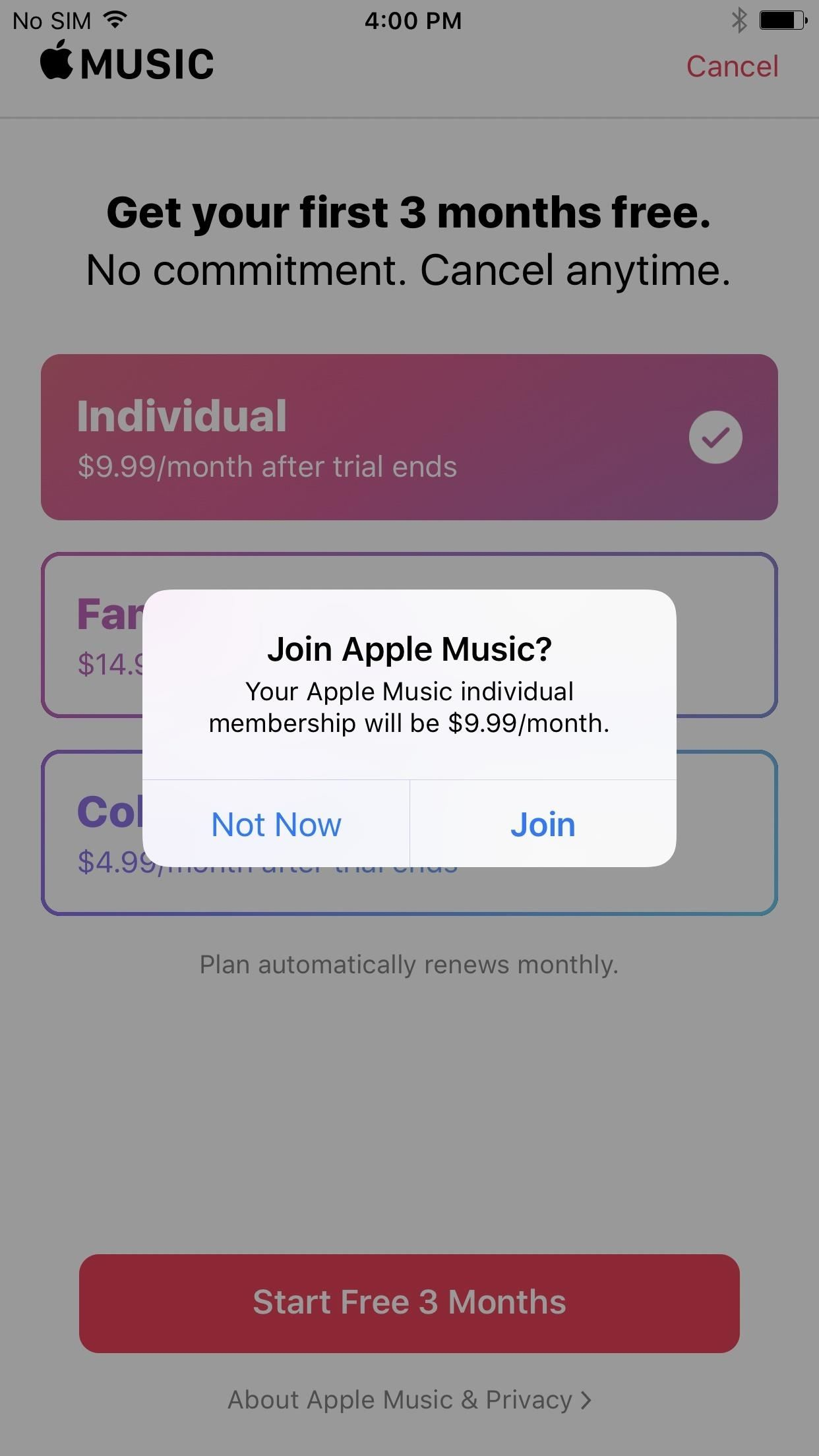 How to use apple music for free