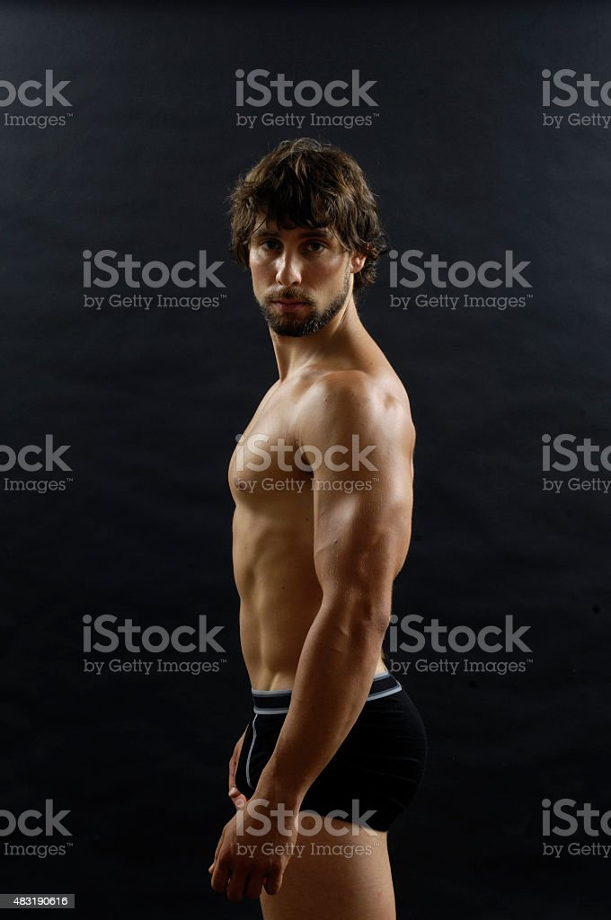 Naked man body only