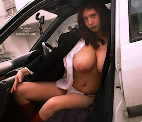 Topless chicks in cars